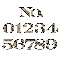 "Deco Gold Foil Adhesive House Number - 6"" High - Sold Each"