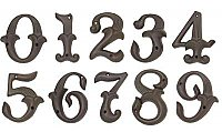 Alhambra House Numbers - Dark Bronze