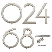 "Avalon House Numbers - Brushed Nickel - 4-1/2"" High"