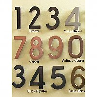 Architectural Solid Brass House Numbers - Multiple Finishes - Rear Mount