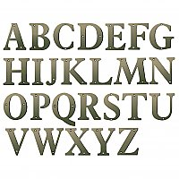 "4"" Solid Brass Residential Letters - Antique Nickel"