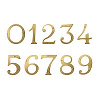 "4"" Solid Brass House Number - PVD Polished Brass"