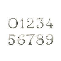 "4"" Solid Brass House Number - Satin Nickel"