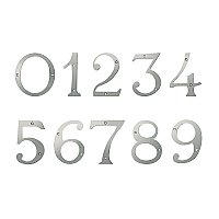"6"" Solid Brass House Number - Satin Nickel"