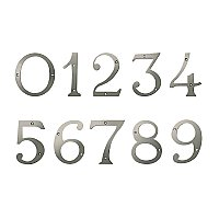 "6"" Solid Brass House Number - Antique Nickel"