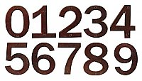 "Solid Bronze 6"" House Numbers - Multiple Finishes Available"