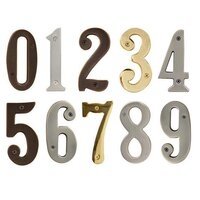 "Solid Brass 5-1/2"" House Numbers - Multiple Finishes Available"