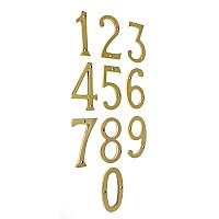"Brass House Numbers - 4"" - Many Finishes"