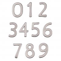 "Solid Brass 6"" House Numbers - Concealed Mounting"