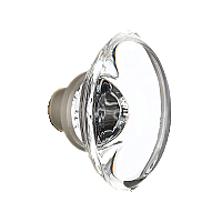 Oval Clear Crystal Door Knob Pair