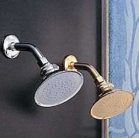 "Solid Brass 4-7/8"" Rain Shower Head Only (No Arm) - Multiple Finishes Available"