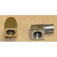 "Solid Brass 90 Degree Elbow for ""P"" Series Shower Enclosures - For Extra Ceiling Mount"