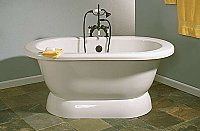 "Sonoma 5' Pedestal Acrylic Bathtub - 7"" on Center Deck Mount Holes"