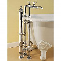 Solid Brass Leg Tub Traditional Tower Drain - Overflow & Drain - Multiple Finishes