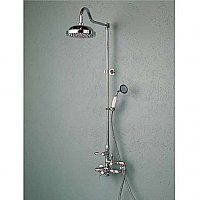Solid Brass Exposed Thermostatic Shower and Handheld Shower Faucet Set - Multiple Finishes Available