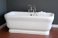 "Solitude Acrylic 70"" Pedestal Bathtub - Includes Drain"