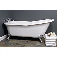 Folsom 5-1/2' Acrylic Clawfoot Bathtub - No Faucet Holes