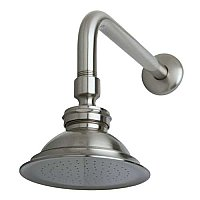 "Victorian Brass Showerhead with 12"" Shower Arm Combo, Brushed Nickel"