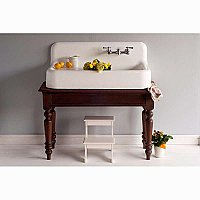 "The Whitney 42"" Cast Iron and Porcelain Farmhouse Sink with Drainboard"