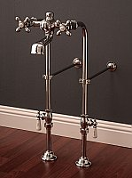 "Over-the-Rim British Style Bathtub Faucet with 24"" Supply Line Set"