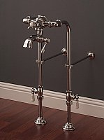 "Over-the-Rim Thermostatic Bathtub Faucet with 24"" Supply Line Set"