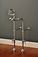 "Over-the-Rim Thermostatic Bathtub High Arch Faucet with 24"" Supply Line Set"