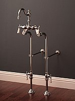 "Over-the-Rim Traditional Bathtub High Arch Faucet with 24"" Supply Line Set, Adjustable Centers"