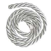Picture Hanging Cord, Silver, sold per yard