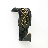Picture Moulding Hook or Hanger for Picture Rail, Antique Brass