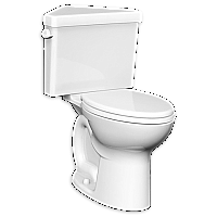 American Standard Cadet Pro Right Height Triangle Toilet- Round Front- White