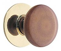 Stoneware Porcelain Knob with Backplate