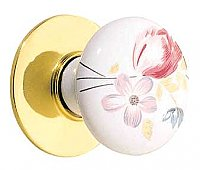 Devonshire Porcelain Knob with Backplate