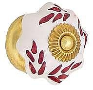 Porcelain Petal Knob, Cinnamon Spray