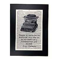 Repurposed Antique Dictionary Page Wall Decor - Hemingway