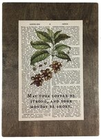 Repurposed Antique Dictionary Page Wall Decor - Coffee Beans - May Your Coffee Be Strong and Your Monday Be Short