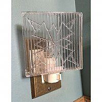 Repurposed Glass Tile Nightlight- Clear Glass