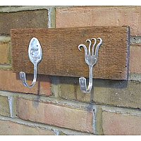 Repurposed Silverplate Hooks- Woof