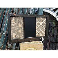 """Henry"" Repurposed Antique Window / Message Board - Chalkboard, Bulletin Board, Coat Tree"
