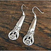 Repurposed Silverplate Earrings