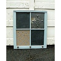 """Lizzie"" Repurposed Antique Window / Message Board"