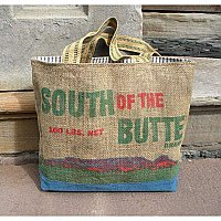 Vintage Burlap Potato Sack Tote- South of the Butte