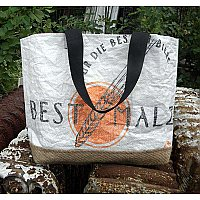 Repurposed Beer Malt Tote Bag- Best Malz
