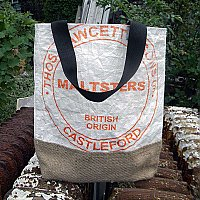 Repurposed Beer Malt Tote- Thos. Fawcet & Sons Malters