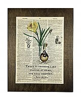 Repurposed Antique Dictionary Page Wall Decor - Flower- Jane Austen- There is nothing like staying at home