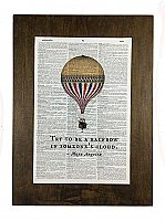 Repurposed Antique Dictionary Page Wall Decor  - Balloon - Maya Angelou - Rainbow Quote