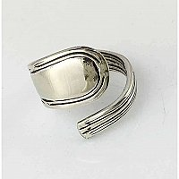 Repurposed Silverplate Spoon Ring- Smooth