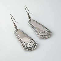 Silverplate Earrings- Repurposed Flatware