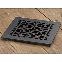 "Scroll Design Cast Iron Heat Grate or Register, 8"" x 8"""