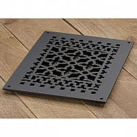 "Scroll Design Aluminum Heat Grate or Register, 6 Finishes Available, 8"" x 12"" Duct Size"