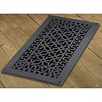 "Scroll Design Cast Iron Heat Grate or Register, 9"" x 20"""